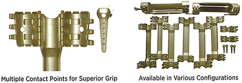 Multiple Contact Points for Superior Grip - Available in Various Configurations